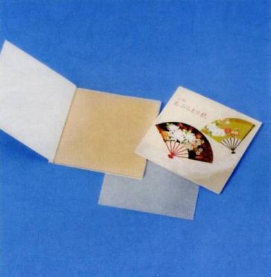 あぶらとり紙 扇子 10枚入 茶紙 【ご注文単位 3000個】