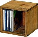 mokuシリーズ「 木製CDボックス 」【IT】カラー:ホワイト(#9847100)、ブラウン(#9847110)サイズ:幅16×奥行16×高さ15.5cmアンティーク..