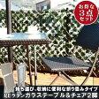 ガーデン チェア テーブル ラタン 折り畳み セット「 PEラタンフォールディングガラステーブル&チェア2脚セット 」【FBC】ブラウン、ホワイト【代引・返品変更・キャンセル不可】