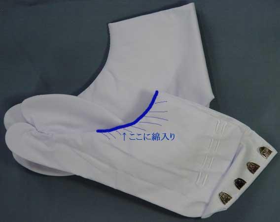 綿入り白足袋ずっと座る方、足元が冷える方などにお薦め伸縮自由ソフトなはきごこち22.5〜24.0cm