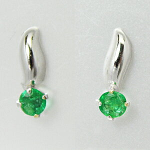 K14 white gold pierced earrings