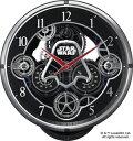 リズム時計★スターウォーズ 電波からくり時計【DARTH VADER ダース・ベイダー】掛時計 国内正規品 4MN533MC02  [代引不...