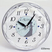 ■リズム時計【ディズニー アナと雪の女王 エルサ】目覚まし時計 4SE546MA04【楽ギフ_包装選択】.【05P09Jul16】