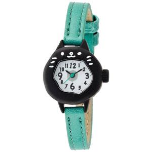 ■フィールドワーク 腕時計 ウォッチ【にゃん】黒ネコ ブルー ASS051H 【楽ギフ_包装選択】