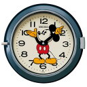 ■SEIKO[セイコー] 【大人ディズニー レトロ ミッキー】掛時計 ネイビー FS504L【楽ギフ_包装選択】【05P27May16】【05P03Sep16】