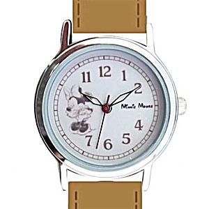 ■フィールドワーク【ディズニー ミニーマウス】腕時計 ウォッチ ラインアート ベージュ MKN001-2【楽ギフ_包装選択】