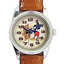 ■フィールドワーク【ディズニー ミッキーマウス】腕時計 ウォッチ ベージュ MKN004-1 【楽ギフ_包装選択】