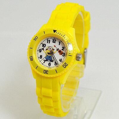 ■シリコンウォッチ【minions ミニオンズ】腕時計 イエロー DES002-3【楽ギフ_包装選択】