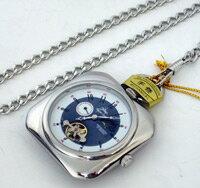 ●【Royal Polo】機械式〔手巻き〕懐中時計(C7453P-SBL)【楽ギフ_包装選択】