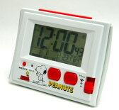 ■リズム時計【スヌーピー R126 電波デジタル 温・湿度計付目覚し時計 ジャストウェーブ】8RZ126RH03【楽ギフ_包装選択】【05P03Sep16】