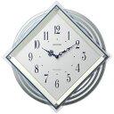 ■リズム時計【ビュレッタ】電波掛け時計 振り子時計 白パール 4MX405SR03【楽ギフ_包装選択】.【05P03Sep16】