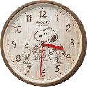 ●リズム時計★スヌーピークロック【スヌーピー M40 PEANUTS】掛時計 茶色 8MGA40-M06 代引不可 【楽ギフ_包装選択】