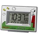 ■リズム時計[RHYTHM]【スヌーピー デジタル電波目覚まし時計】温湿度計 白 8RZ187-M03 [代引不可][後払い不可]【楽ギフ_包装選択】