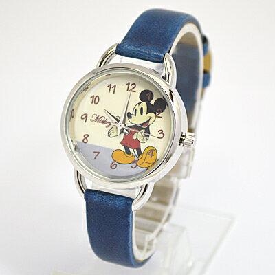 ■フィールドワーク【ディズニー ミッキーマウス】手書き風 腕時計 ウォッチ ブルー MKN011-3【楽ギフ_包装選択】