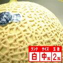 【送料無料】静岡産クラウンメロン2玉「白」 中玉