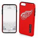 ショッピングアイフォン6 ケース 手帳型 【中古】【輸入品・未使用】NHL Detroit Red Wings iPhone 6?Plusデュアルハイブリッドケース2ピース、レッド