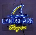 【中古】【輸入品・未使用】Landshark Lager ビールバー パブ 店舗 パーティールーム 壁 窓 ディスプレイ ネオンサイン 19x15