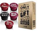 【中古】【輸入品・未使用】5 Wine Stoppers + Gift Box - Perfect Wine Gift Accessory Set of 5 Funny Silicone Wine Reusable Caps ..