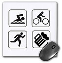 【中古】【輸入品・未使用】Swim Bike Runビール???マウスパッド、8?× 8インチ(MP 123104?_ 1?)