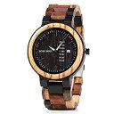 【中古】【輸入品・未使用】カラフルな木製腕時計 メンズ レディース ハンドメイド アナログ 週 日付表示 カジュアル リ