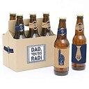 【中古】【輸入品・未使用未開封】My Dad is Rad - 6 Father's Day Beer Bottle Labels with 1 Beer Carrier