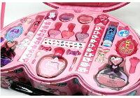 【Barbie】バービービューティケースキッズ用コスメセットビューティーメイクアップセットバッグ化粧品リップネイルお化粧セット子供用女の子用