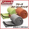 【Coleman コールマン】フリース スリーピングバッグフリース寝袋 10℃以上約190.5×84cm毛布 ブランケット インナーにも寝袋/ひざ掛け/ねぶくろ
