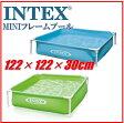 INTEX インテックス ミニフレームプール長さ1.22mx幅1.22mx高さ30cm簡単設営!プール ファミリープール子供 こども用 ファミリー ビニールプール 子供用 野外 屋外 フレームプール