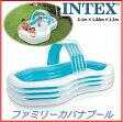 【数量限定特価】INTEX インテックス スイムセンターファミリーカバナプール 大型プール 家族 親子で 子供 こども用 ファミリー ビニールプール 子供用 屋外プール