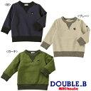 ◎ダブルB(売れ筋)mikihouse DOUBLE.B(Everydayシリーズ)シンプルトレーナー(70cm、80cm、90cm、100cm、110cm、1...