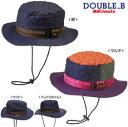 【限定割引】(定価6200円+税をSALE)ダブルB(おススメ)mikihouse DOUBLE.Bステッチ☆サファリハット帽子(S、M、L、LL)