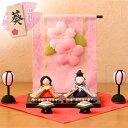 雛人形 ひな人形 ちりめん コンパクト 小さい ミニ花几帳わらべ雛 お雛様 ひな祭り『龍虎堂』リュウコドウ  は北海道・沖縄・離島を除きます