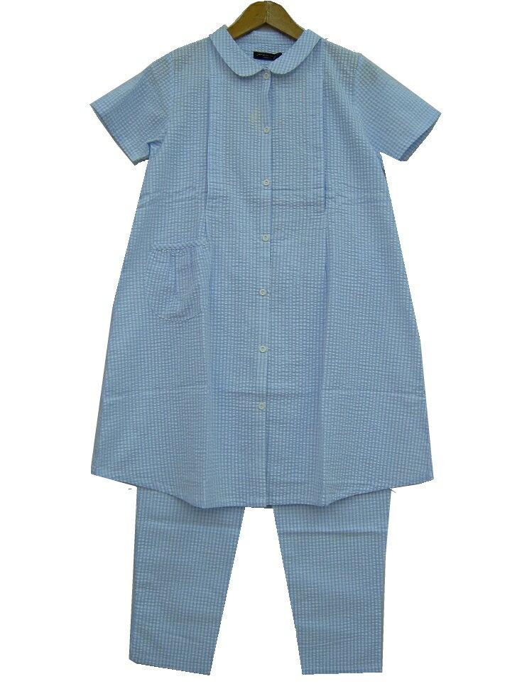 【半袖 授乳口付きパジャマ】217202 先染...の紹介画像2