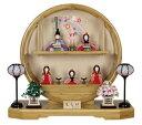 木目込み飾り一式 雛人形 大里彩作 【ももか】五人飾り/ コンパクト/木目込ひな人形 4D45-FK-221