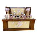 新作木目込雛人形 一秀【6502】オリジナル 50cm 五人飾り収納 コンパクト木目込ひな人形
