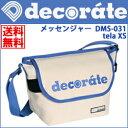キッズ ショルダーバッグ デコレート ミニメッセンジャーバッグ decorate DMS-031 tela XS ホワイト×ブルー 3DSなどのゲーム機やペット...