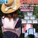 熱中症対策グッズ 冷却ベスト 上位モデル アイスハーネス 保冷剤6個付きセット レディース 女性向き...
