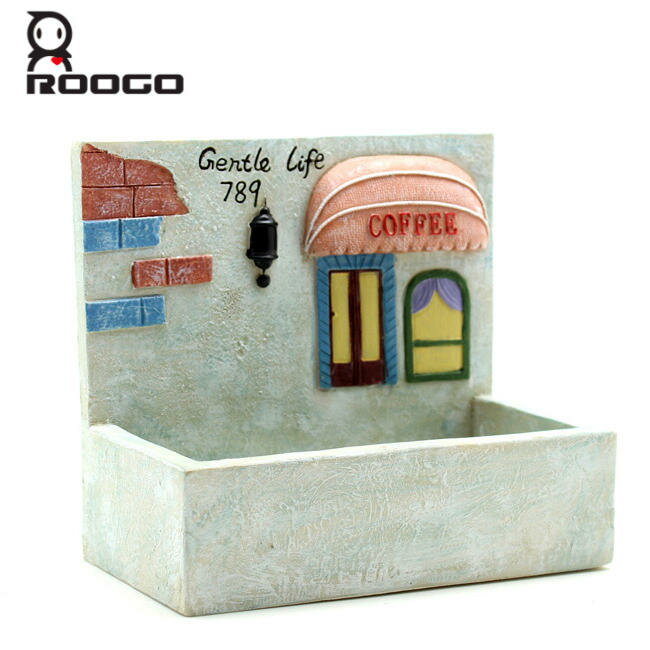 [Roogo]多肉植物・壁掛けプランターカフェのガーデン植木鉢/ポット/サボテン/花/カクタス/セダ