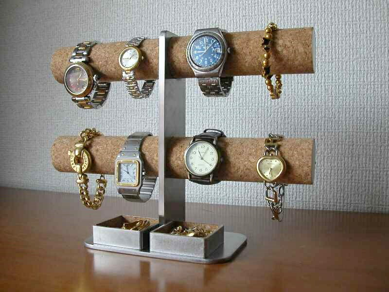腕時計スタンド ダブルトレイ8本掛けインテリア腕時計スタンド