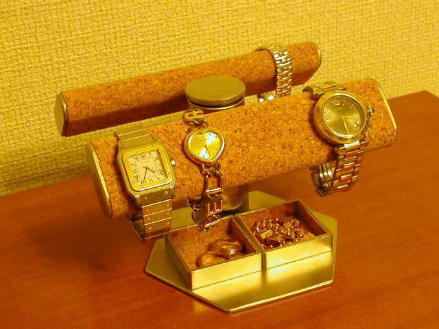 腕時計スタンド だ円手動式★トレイ付き 腕時計を飾れて角度も自由に変えられます!