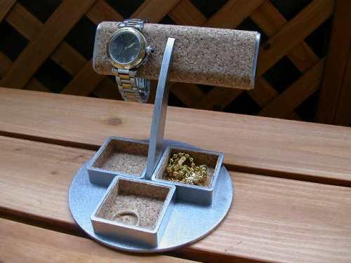 時計 収納 ケース 2本掛け角トレイ腕時計スタンド AK456