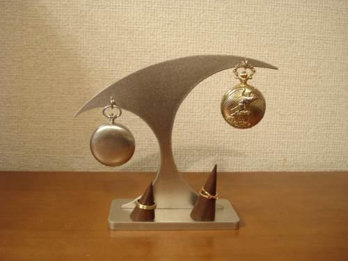 懐中時計スタンド 送料無料懐中時計&木製リングダブルスタンド 【たかい】
