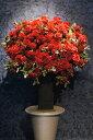 シャルルレッドローズ ブラックベーススタイル(造花)