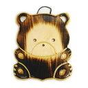 木製 木彫り 動物 鍋敷き 熊(くま)