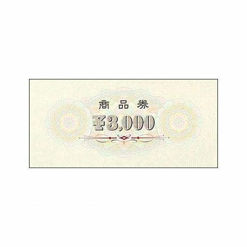 ササガワ(タカ印) [9-312] 商品券 横書 ¥3000 裏無字 9312【AKB】