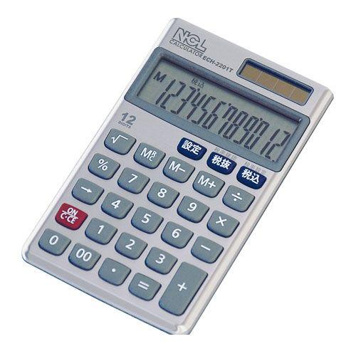 ナカバヤシ [54328] 電卓 ケース付 ECH−2201T 54328