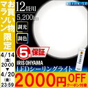 【クーポン利用で2,000円オフ】シーリングライト 12畳 5200lm 調色 CL12DL-5.0 アイリ