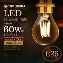 フィラメント電球 E26 LEDフィラメント電球 おしゃれ 60W 非調光 810lm LED電球 電球 クリア 乳白 アイリスオーヤマ モダン 北欧 レトロ ヴィンテージ 西海岸 インテリア エジソン LED LDA7N-G-FC LDA7L-G-FC LDA7N-G-FW LDA7L-G-FW 昼白色 電球色