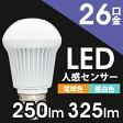 【送料無料】アイリスオーヤマ LED電球 人感センサー付mini 昼白色(325lm)・電球色(250lm)LDA4N-H-S4・LDA4L-H-S4【RCP】【0530in_ba】26口金 一般電球 led 照明器具 led照明 消費電力 長寿命 E26【◆zk】[Yep_100]【532P15May16】【あす楽】