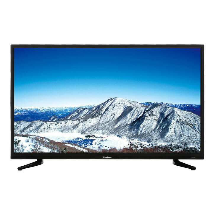 S-cubism 32型 テレビ 3波 外付けHDD録画対応 AT-32C03SR送料無料 TV ハードディスク 液晶テレビ リビング エスキュービズム 【D】